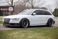 Audi allroad with HRE S104 in Satin Charcoal