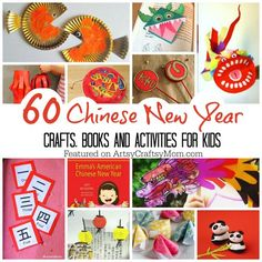 Collection of the top 60 Chinese New Year Crafts and activities for kids. Colouring pages, puzzles, worksheets, art, craft, books and other printables too.