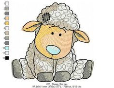 Sheep Machine Embroidery Designs Set for by ArtEmbroideryDesigns