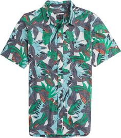 RVCA JUNGLE LEAVES SS SHIRT. http://www.swell.com/New-Arrivals-Mens