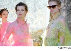 Valentino, Spring/Summer 2012 #campaign   Fei Fei Sun, Bette Franke, & Maud Welzen by Deborah Turbeville
