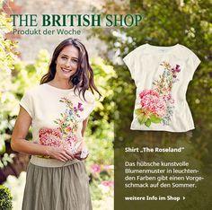 Unser Lieblingsprodukt der Woche ist dieses Shirt mit kunstvollem Blumenmuster – ein Vorgeschmack auf den Sommer!