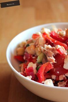 Kichererbsensalat mit Thunfisch, Tomaten und Petersilie - Gaumenfreundin - Foodblog mit gesunden Rezepten