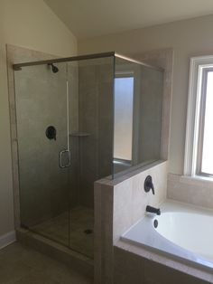 Master Bath: Level 2 Shower And Drop In Garden Tub With Skirt