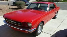 Ford : Mustang Coupe Red 1965 Mustang Coupe 250ci 6 Cylinder with C4 Automatic Transsmission