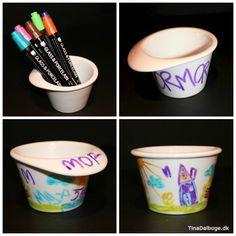 Idéer til kreative gaver som børn selv kan lave - se flere idéer på Tina Dalbøges blog med kreative påfund - find materialerne i Kreahobshop.dk