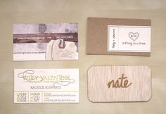 the top right: kraft card, printed white paper wraps around to make it two sided. link shows back side in separate photo.