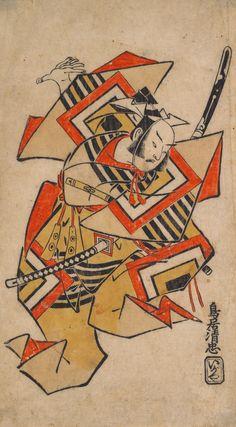 Torii Kiyotada I. Ichikawa Danjûrô II in Shibaraku. 1715.