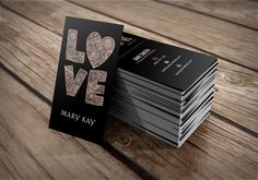 Vertical, unique minimalist business card design for Mary Kay representatives  #love #marykay #businesscard #vertical #minimal #graphicdesign
