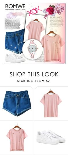 """""""RIPPED T-SHIRT"""" by rabbitbeery ❤ liked on Polyvore featuring Anja, adidas, Kim Rogers and GALA"""