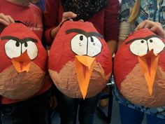 Angry Birds in Laternenform #diy #laterne #herbst