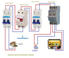 Wiring diagram for interlock transfer switch Portable