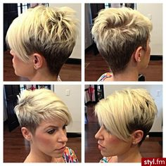 30 Super Short Hair Cuts for Women… Short Pixie Haircuts, Pixie Hairstyles, Cool Hairstyles, Shaved Hairstyles, Hairstyle Ideas, Super Short Hair, Great Hair, Hair Today, Hair Dos