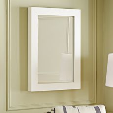 Parsons Wall Mirror - White Lacquer