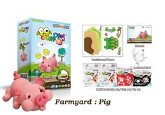 Create Your Own Toy Pig with our Step-by-step Farmyard Series - 6 to collect.