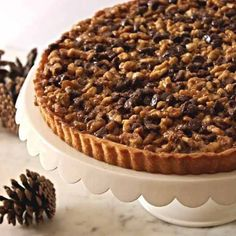 Chocolate Kahlua Walnut Tart Recipe : Cooking.com Recipes