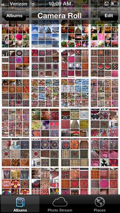 Count the squares suzani collage