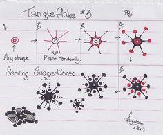 Tangleflake #3~Zentangle #3