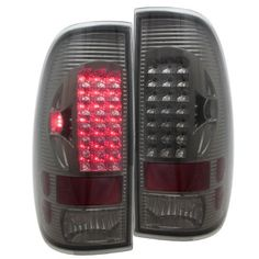 Ford F150 1997-2003 Smoked Projector Headlights and LED Tail Lights