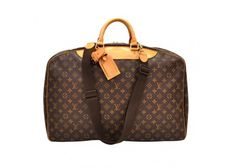 Louis Vuitton Alize Ann Posh Brown Monogram Canvas Travel Hand Bag + Strap