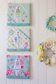 DIY Tilda wrapped Canvas wall art A Tilda Filled Craft Space - Heart Handmade uk