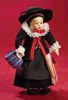 Kaleidoscope: 168 Italian Felt Miniature Girl by Lenci in
