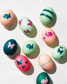 Washi Tape-Decorated Easter Eggs