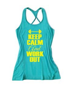 Keep calm and work out Women's Lift Crossfit Tank Top -X 958