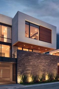 Shop Exterior Architecture - Ranch Home Exterior - Exterior Lighting Facade - Modern Architecture House, Modern House Design, Architecture Photo, Modern House Facades, Modern Exterior, Exterior Design, Interior Modern, Modern Luxury, Midcentury Modern