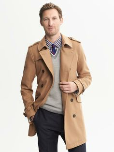 Camel Wool Belted Trench will be my jacket this winter!