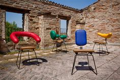 Elegant and Colorful Chairs Inspired by Diverse Human Personalities: Individuale