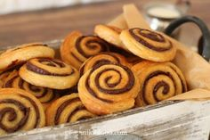 Dairy-Free Chocolate Spirals - Niki's divine chocolate spirals Divine Chocolate, Chocolate Spread, Dairy Free Chocolate, Cake Cookies, Cupcakes, Egg Wash, Sweet Pastries, No Dairy Recipes, Dry Yeast