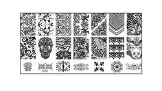 6 unids BC placas de uñas 1 Stamper 1 Scraper clavo que estampa las placas manicura plantilla Konad estampar arte del clavo herramientas en Plantillas de Manicura de Salud y Belleza en AliExpress.com | Alibaba Group