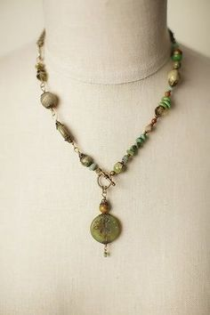 Unique long collage gemstone dragonfly necklace is handmade in our Floyd VA USA studio