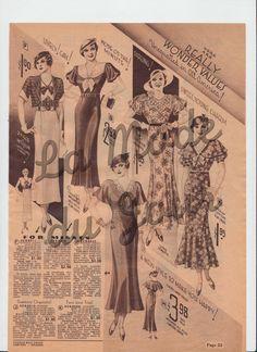 1934 Chicago fashion catalog