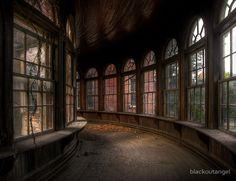 The abandoned Teton State Hospital -gorgeous windows.