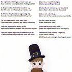 This is a Thanksgiving poem for pre-K, K, or 1st grade children complete with motions. It my be used as a Thanksgiving class presentation. Students...