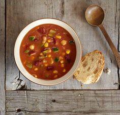 Minestrone Soup | Vitamix Vitamix Soup Recipes, Blender Recipes, Vegetarian Recipes, Cooking Recipes, Vitamix Blender, Blender Soup, Tortilla Soup, Taco Soup, Vitamix Creations