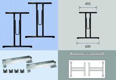Opklapbare tafelpoot type D24700