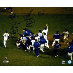 1986 NY Mets 11 Signature WS Celebration 16x20 Photo (MLB Auth)