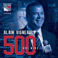 Congrats AV on 500 wins! Rangers Hockey, Hockey Teams, Basketball Quotes, All Team, National Hockey League, New York Rangers, Sports Pictures, My Boys