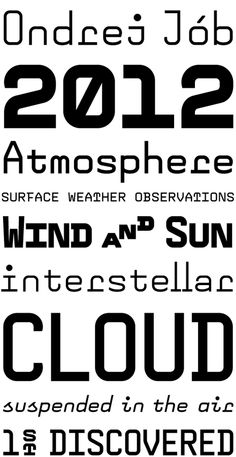 Remi by Ondrej Jób (Village) Monospace, Typography, Lettering, Fonts, Surface, Clouds, Type, Letterpress, Designer Fonts