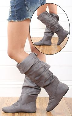 Grey boots (do them rolled up)