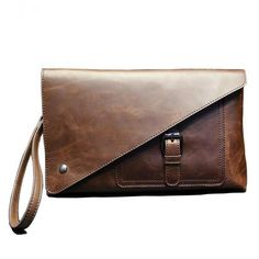 Crazy Horse Leather Clutch Wallet