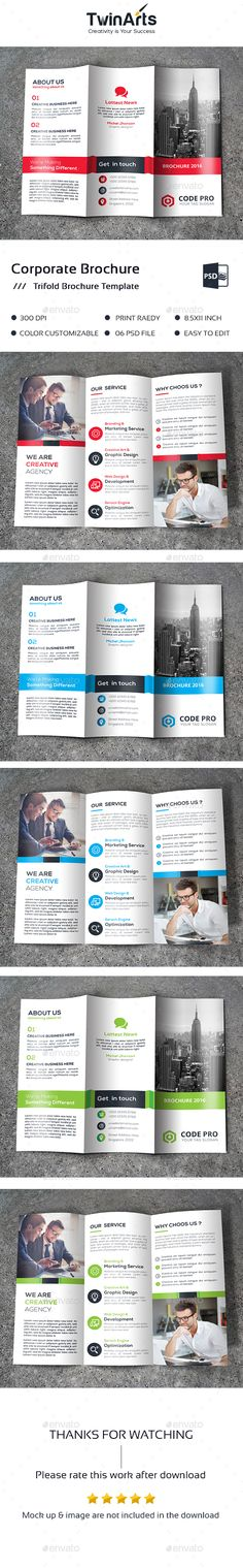 Trifold Brochure Template PSD. Download here: https://graphicriver.net/item/-trifold-brochure/17448754?ref=ksioks