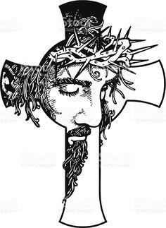 Jesús cruce jesús cruce - arte vectorial de stock y más imágenes de cristianismo libre de derechos