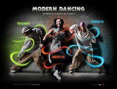 Modern Dancing Flash Templates by Delta Flash Templates, Types Of Organisation, Custom Web Design, Ecommerce Website Design, Custom Website, Dance Studio, Web Design Inspiration, Website Template, Web Development