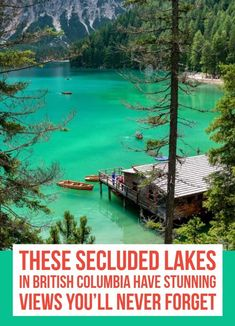 There are a number of popular aquatic experiences to enjoy in Canada; however, these secluded lakes in BC offer a purely private and therefore tranquil experience. Vacation Places, Vacation Destinations, Dream Vacations, Vacation Spots, Places To Travel, Travel Pics, Vancouver Travel, Vancouver Island, British Columbia