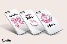 Wedding iphone covers design Fashion Illustration Kit by Sopelkin on @creativemarket