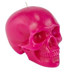 Dl Co Bright Pink Skull Candle Love Pretty In